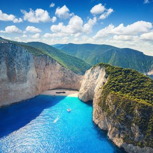 Playa de Zakynthos en Grecia