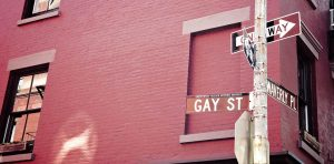 Greenwich Village NYC Gay St.