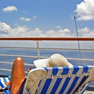 Tomando el sol a bordo de un crucero