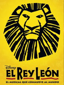 Cartel del Musical El Rey León en Madrid