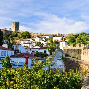 Ciudad de Óbidos en Portugal