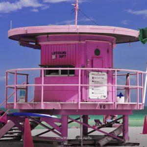Los vigilantes de la playa en Miami Beach