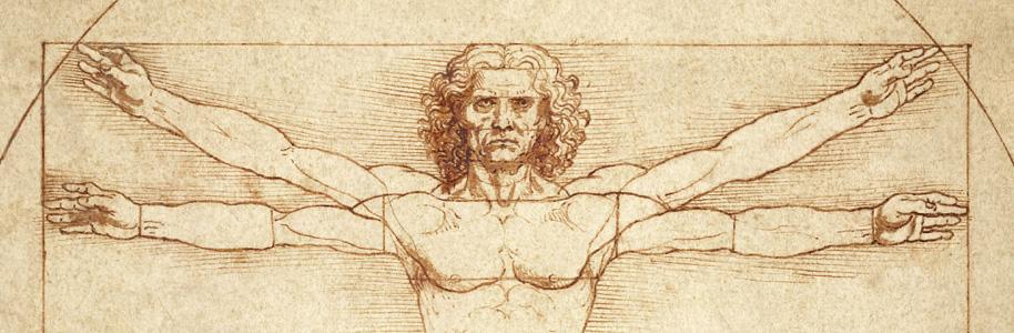 El hombre de vitruvio por Leonardo da Vinci