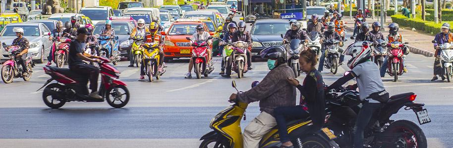 Motos en Bangkok